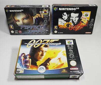 N64 Bundle GoldenEye 007, Perfect Dark, The World Is Not Enough