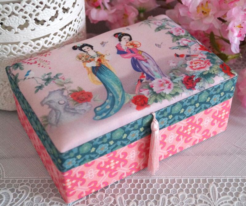 Schmuckkasten Schmuckkästchen Schmuckkoffer Schmuckschatulle rosa Mädchen Kinder Geisha Rosa