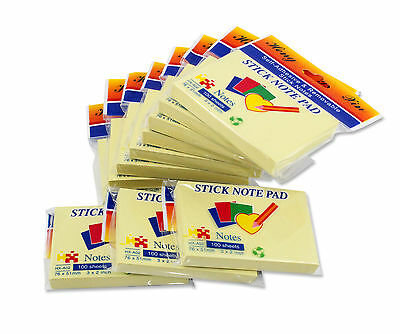 3 X 2 Inches Yellow Sticky Note For Home Office 100 Sheetpad 11-padpack