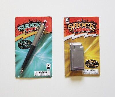 2 New Shock Items Combo 1 Lighter     1 Ink Pen    Shocking Gag Gift Prank Joke