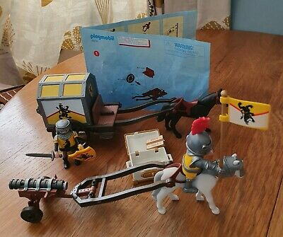 Playmobil Knights Lion Treasure Transport 4874 Toy With Figures