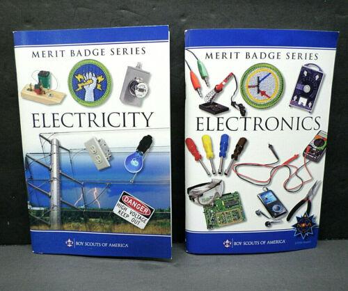 2-pc Electronics / Electricity Merit Badge Books Boy Scouts America BSA (UNUSED)