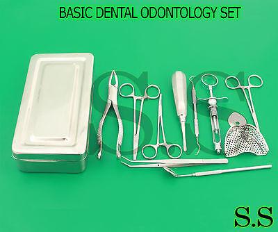 Basic Dental Odontology Kit Of 11 Pcs Box Dental Instruments