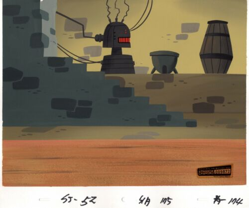 Samurai Jack hand-painted Animation Background Art Cartoon Network 2004 174