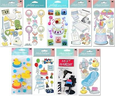 U CHOOSE Jolee's BABY Stickers Boy Girl Stork Food Delivery Haircut Bath Shower - Baby Stork
