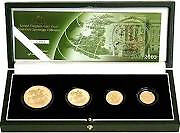 2003 4 coin gold proof sovereign coin set