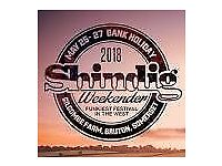 SHINDIG FESTIVAL May 25th whole Bank Holiday weekend: 1 adult tickets, 3 children, 1 parking spaces