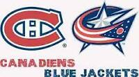 Billets Canadiens vs Columbus 1er décembre