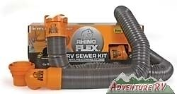 New-Camco-RhinoFLEX-Rhino-Flex-Swivel-RV-Sewer-Hose-Kit-Camper-Motorhome-39761