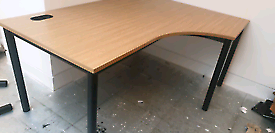 Oak corner office desks