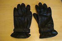 gant en cuir  souple noir doublé médium