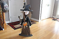 halloween witch - wood