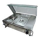 BAIN MARIE WET WITH GLASS FRONT