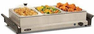 Bella 3x1-qt. Triple Buffet Server Brand New in Box