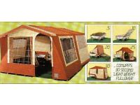 VERY RARE CONWAY GAZELLE TRAILER TENT, FOUR BIRTH