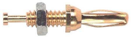 POMONA 3276 Mini Banana Plug,30VAC/60VDC,Amber,PK10