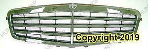 Grille Chrome With 7 Moulding/Frame Mercedes E-Class 2009-2011