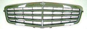 2009-2011 Mercedes E-Class Grille Chrome With 7 Moulding/Frame