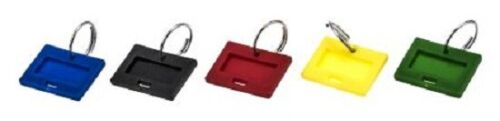 Securikey KEY TAGS 100-Pieces Blue, Red, Yellow, Black & Green *UK Brand