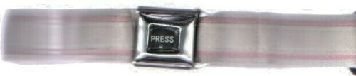 """SEAT BELT BUCKLE WEB BELT WITH PINK/WHITE   ADJ 24"""" TO 42"""" NWOT"""