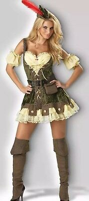 Racy Robin Hood Adult Deluxe Womens Halloween Costume Small (Female Robin Hood Halloween Costumes)