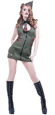 NWT $70 SEXY MAJOR MAYHEM 1940s ARMY PIN - Pin Up Army Girl Kostüm