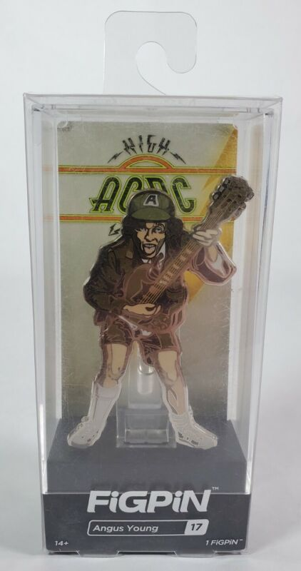 FiGPiN #17 AC/DC High Voltage Angus Young Collectible Enamel Pin New