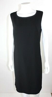 MARY MCFADDEN womens black sleeveless dress knee length size 15
