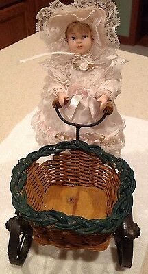 Porcelain Doll With Bicycle