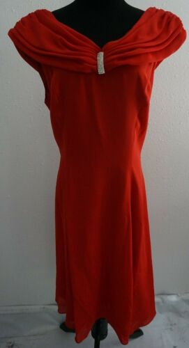 Myles Studio Lipstick Red Off the Shoulder Formal Cocktail Dress 10 Prom