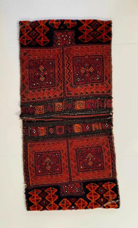Antique Kilim Turkish Wool Saddle Bag Salt Persian Afghan Woven Rug Nomadic