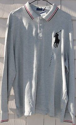 NWT- Polo Ralph Lauren Men's Big Pony Embroidered Polo/Rugby L/S Shirt Size S