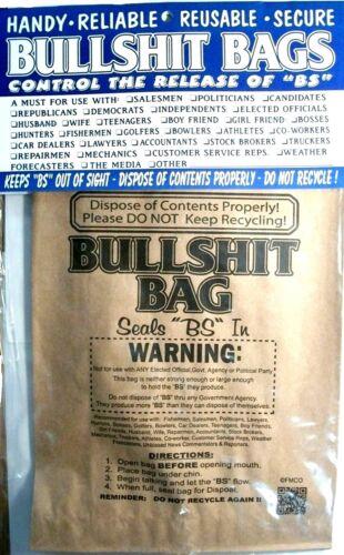 Bullshit Bags 8 pack