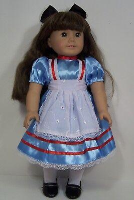 ALICE in WONDERLAND Costume Dress Doll Clothes For 18 American Girl (Debs)](Modern Alice In Wonderland Dress)