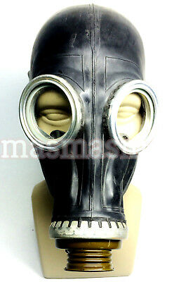 Black gas mask GP-5 mask halloween costume mask scary party fetish - Scary Halloween Gas Mask