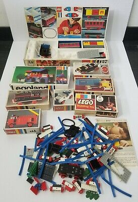 Vintage Lego Legoland Lot 117 127 329 330 333 336 356 Early 1960s w/ Box