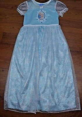 Disney Frozen Elsa Iced Blue Costume Nightgown Pajama  Size 2(XXS), 8(M),10(L) - Disney Frozen Elsa Gown