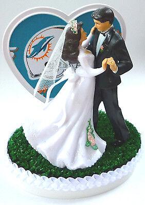 Romantic Wedding Ideas (Wedding Cake Topper Miami Dolphins Football Themed Bride Groom Dancing Gift)