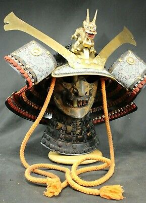 Armor Vintage Japanese Samurai Helmet Dragon armor 1/72 60460 diecast sturmtiger tank model special force display mode. the vatican