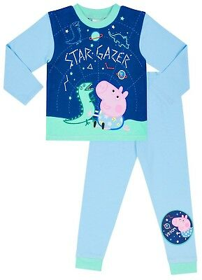 Dinosaur Peppa Pig Pyjamas 1 to 5 Years George Pig Pyjamas Star Gazer w18 - George Pigs Dinosaur
