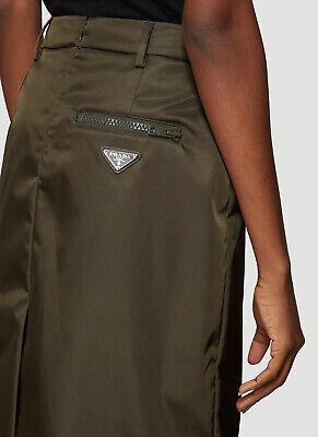 NEW Authentic $690 Prada Techno Logo A line Skirt Current Season 42 (Prada New Season)