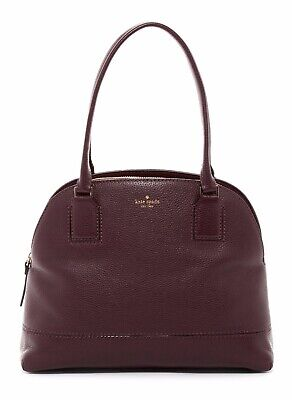 Kate Spade Small Anika Leather Dome Satchel Shoulder Bag Mahogany $358