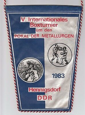 Orig.Wimpel   V.Internationales Turnier im Boxen HENNINGSDORF 1983  !!   SELTEN
