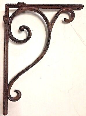 SET OF 2 LARGE RUSTIC  BROWN SCROLL BRACE/BRACKET vintage looking patina finish Dining Room Set Bookcase