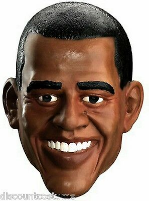 DELUXE BARACK OBAMA 44TH U.S PRESIDENT MASK ADULT HALLOWEEN COSTUME ACCESSORY  - Obama Halloween Costume