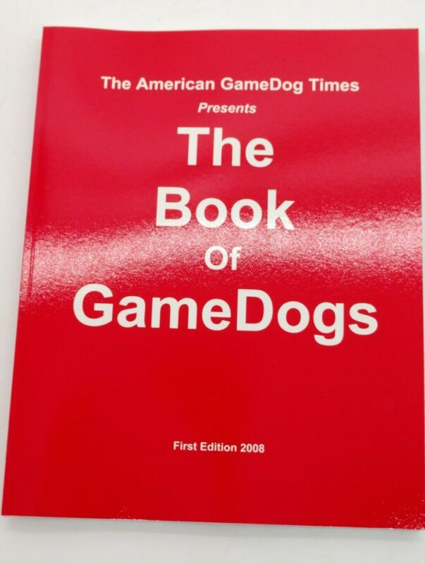 VINTAGE  BOOK OF GAMEDOGS  APBT GAME DOG PIT BULL TERRIER AGDT SDJ BOOK ADBA