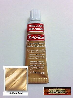 M00122 MOREZMORE Fresh Amaco Rub 'n Buff ANTIQUE GOLD Wax Metallic UC T20A
