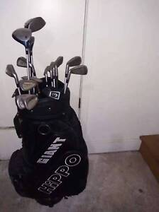 Golf clubs and bag in western suburb