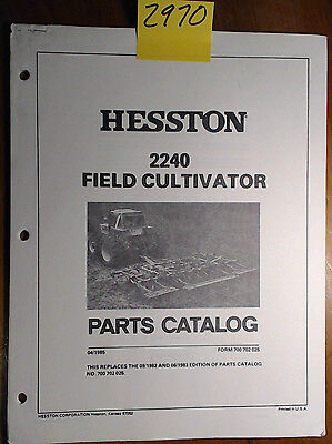 Hesston 2240 Field Cultivator Parts Manual 700 702 025 485