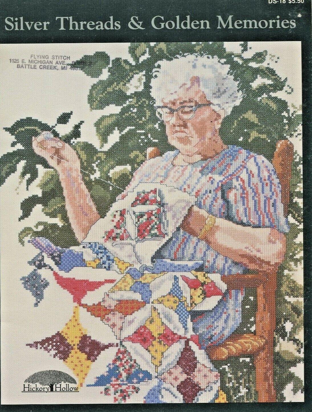 Silver Threads Golden Memories 8 Cross Stitch Pattern 1987 Hickory Hollow - $4.99